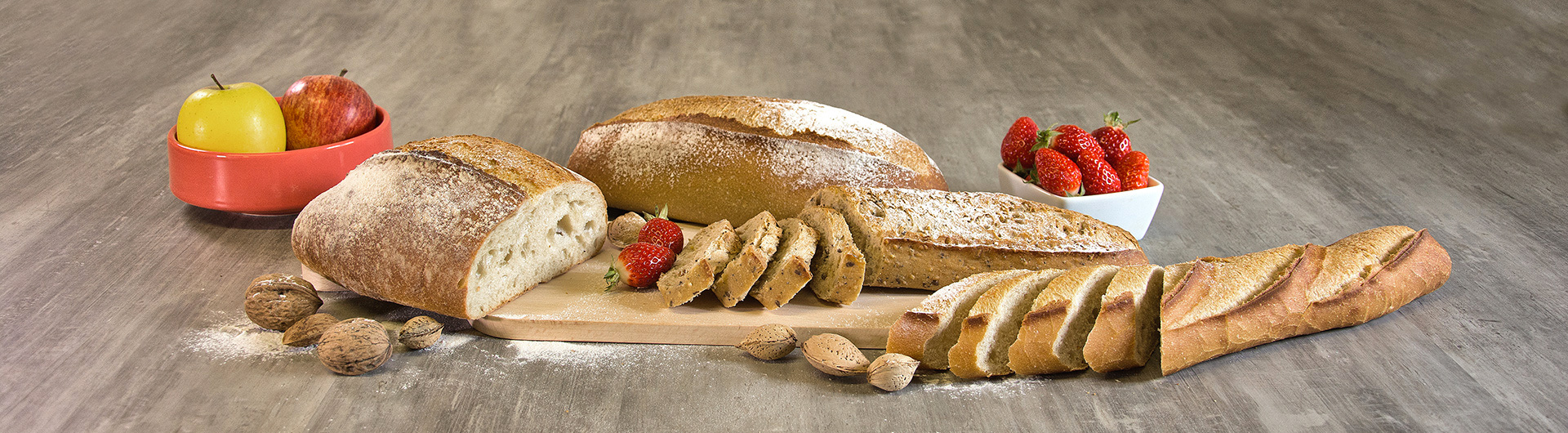 SUSTAINABLY FARMED BREADS